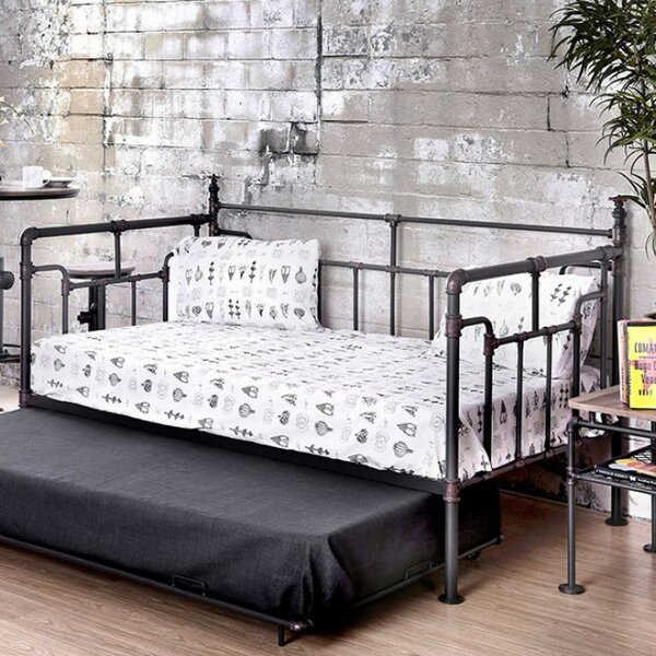 Lemay Pipe-Inspired Metal Daybed by 17 Stories