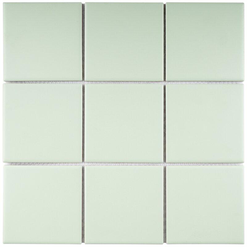 """4"""" x 4"""" Porcelain Mosaic Tile"""