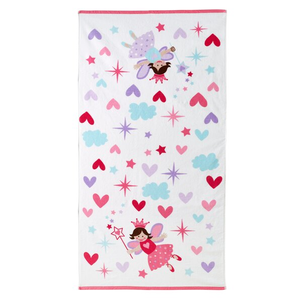 Tierra Princess Cotton Bath Towel by Zoomie Kids
