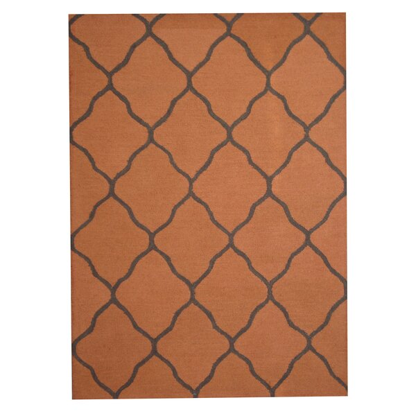 Hand-Tufted Rust/ Gray Indoor Area Rug by Herat Oriental