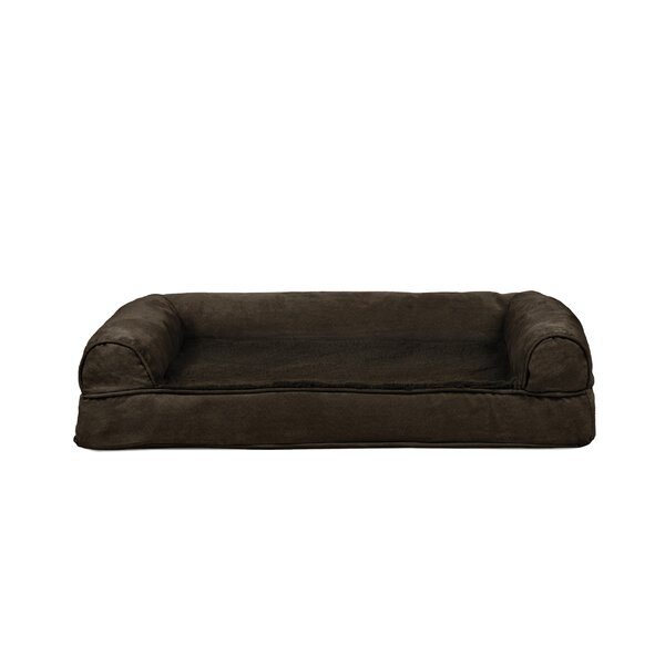 Asay Plush and Suede Cooling Gel Top Dog Sofa by Tucker Murphy Pet