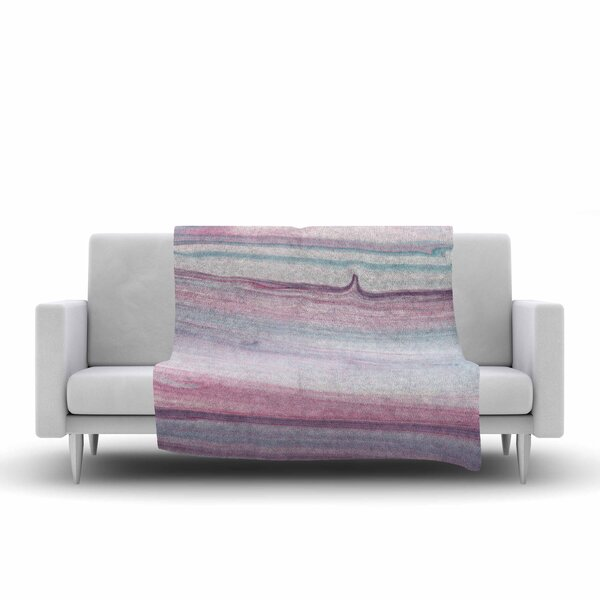 Mmartabc Painting Lines Painting Fleece Throw by East Urban Home