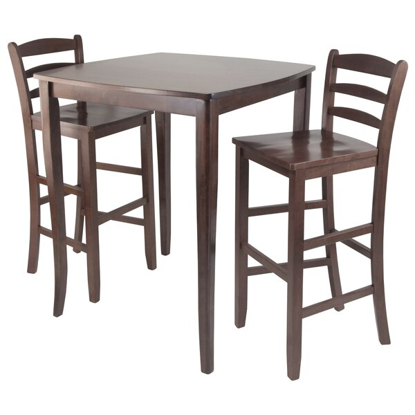 Merkley 3 Piece Counter Height Pub Table Set by Red Barrel Studio