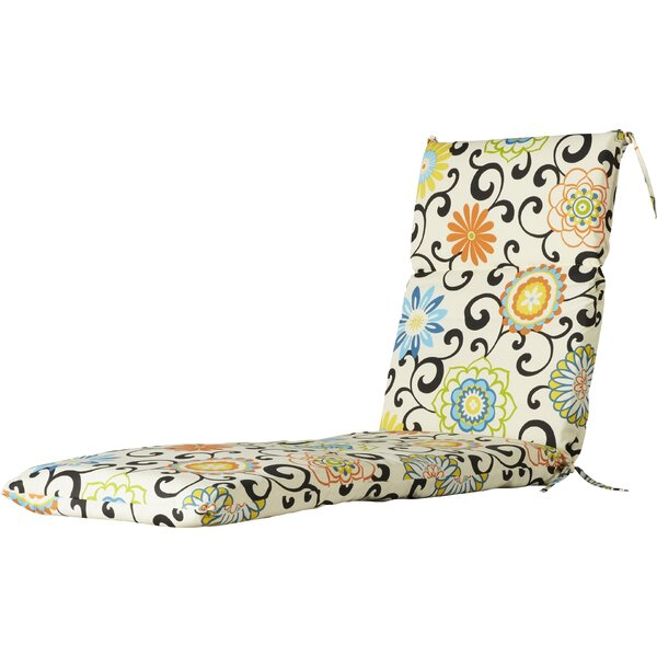 Pom Pom Indoor/Outdoor Chaise Lounge Cushion by Pillow Perfect