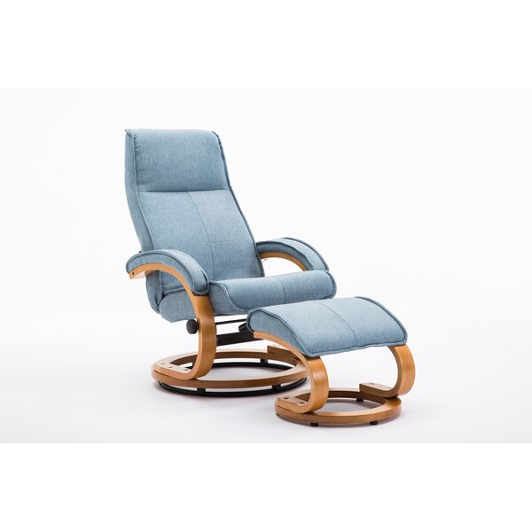 Ayia Manual Recliner With Ottoman By Latitude Run
