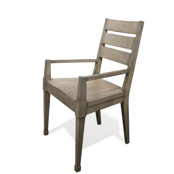 Karpinski Solid Wood Dining Arm Chair (Set of 2) by Three Posts