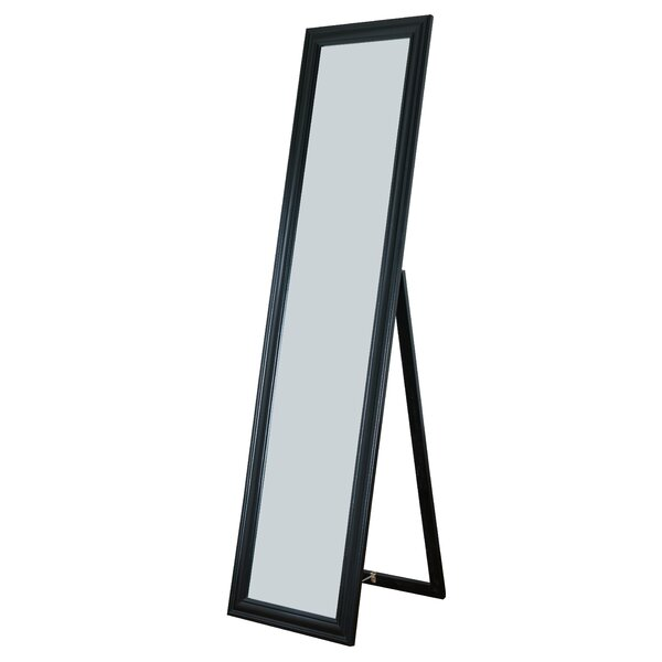 Rectangle Rubberwood Standing Wall Mirror by Alcott Hill