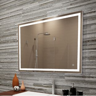 Inexpensive Bolyard Dimmable LED Lighted Bathroom/Vanity Mirror By Orren Ellis