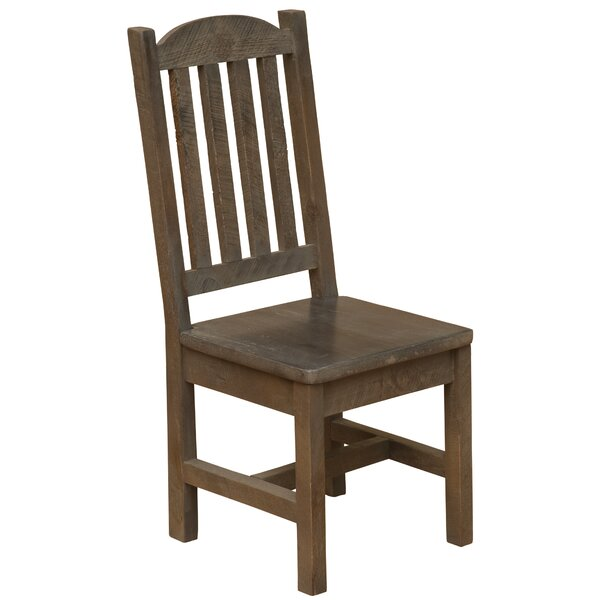 Frontier Cathedral Solid Wood Dining Side Chair by Fireside Lodge