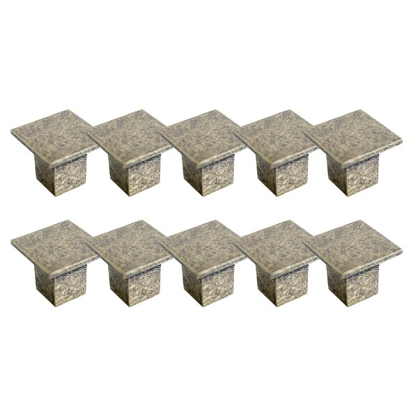 Cubist Square Knob Multipack (Set of 10) by Design House