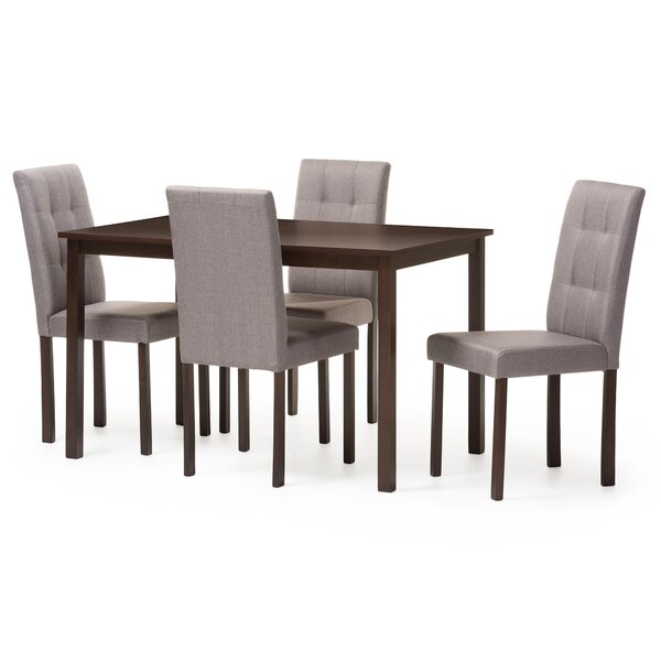Modern  Andrew 5 Piece Dining Set By Wholesale Interiors Today Only Sale