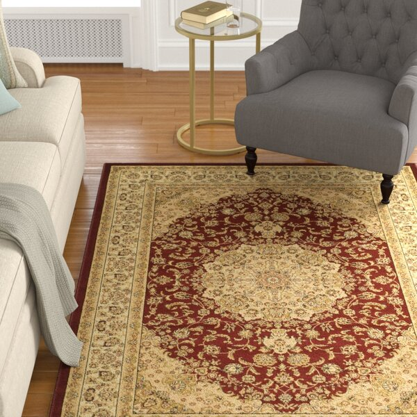 Barton Red/Ivory Rug by Astoria Grand