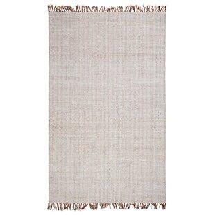 Curcio Boho West Hand-Woven White Area Rug Mistana