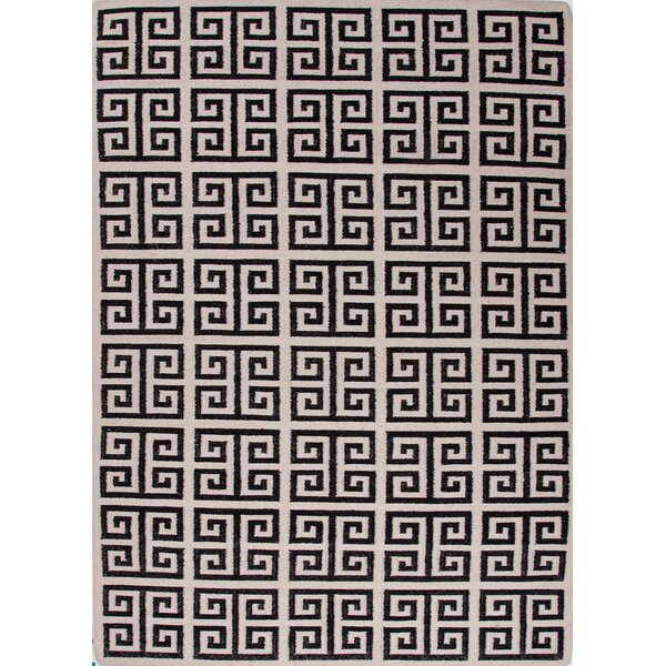 Ginger Black Geometric Area Rug by Mercer41
