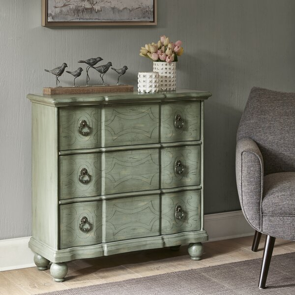 Miquelon Scroll 3 Drawer Accent chest
