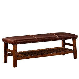 Powell Leather Bench by Furniture Classics LTD