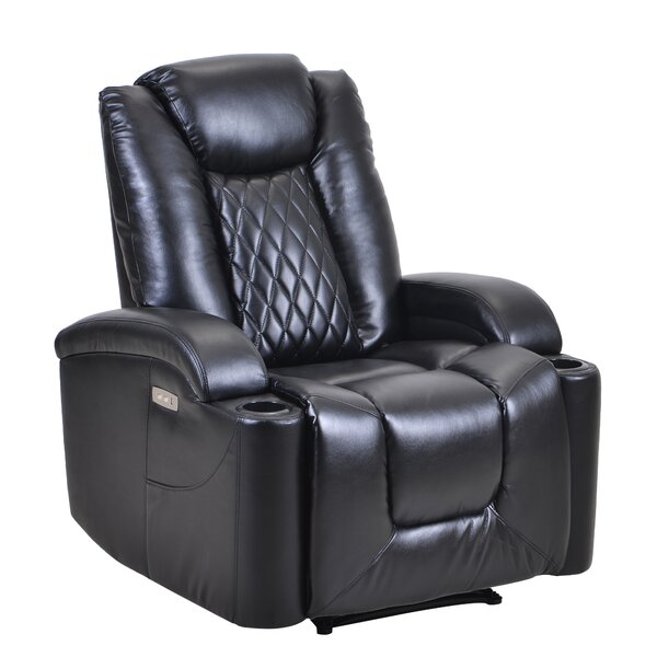 Qunitero Faux Leather Power Recliner W003411386