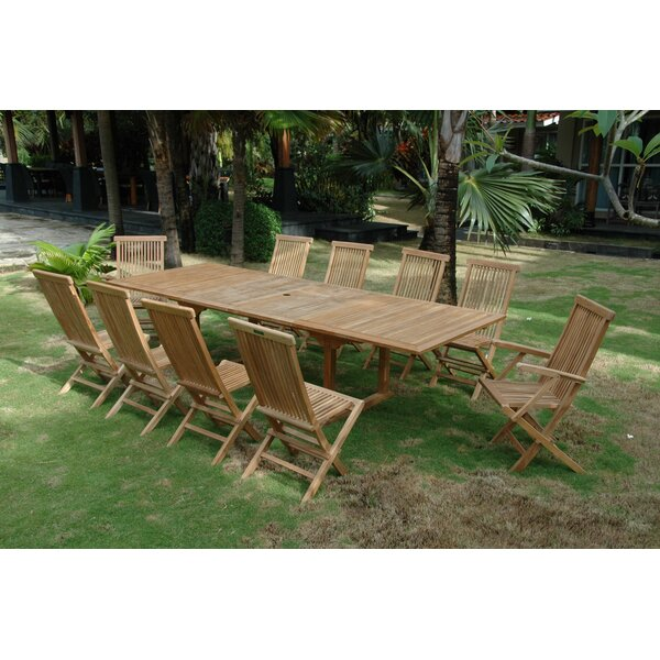 Bourg 11 Piece Teak Dining Set