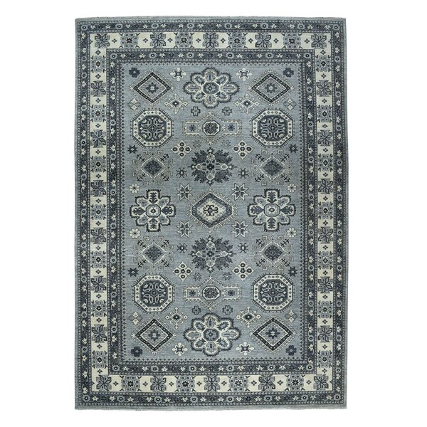 One-of-a-Kind Donner Hand-Knotted Gray 9'9 x 13'7 Wool Area Rug