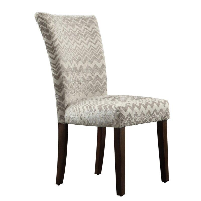 Superbe Hurst Chevron Print Parson Chair