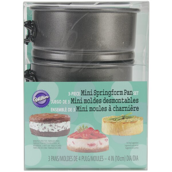 Round Mini Spring form Pan (Set of 3) by Wilton