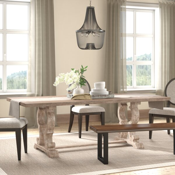 Esita Extendable Solid Wood Dining Table by Ophelia & Co. Ophelia & Co.