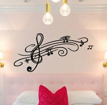Hofmeister Music Notes Vinyl Graphic Wall Decal by Zoomie Kids