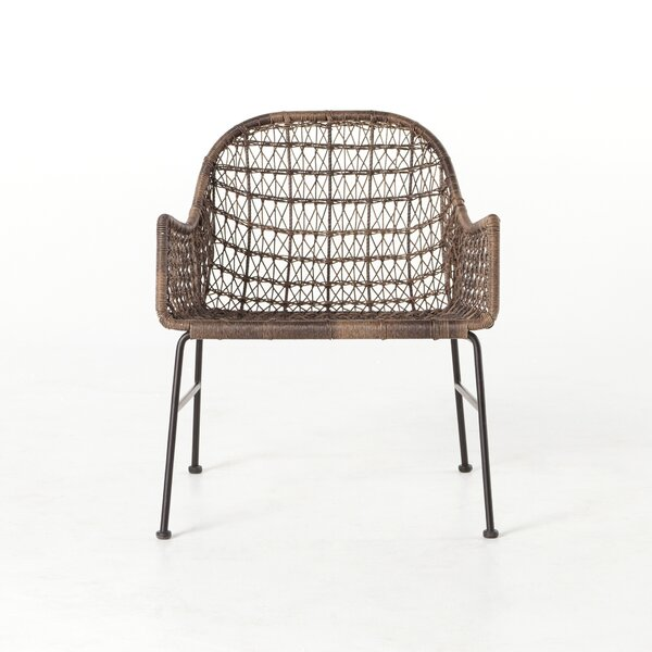 Ludovic Woven Patio Dining Chair by Bungalow Rose Bungalow Rose