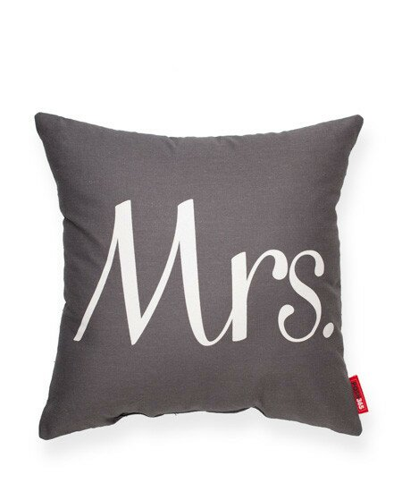 Expressive Mrs. Throw Pillow by Posh365
