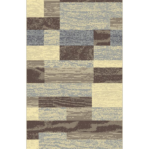 Qualik Brown/Beige Area Rug by Latitude Run