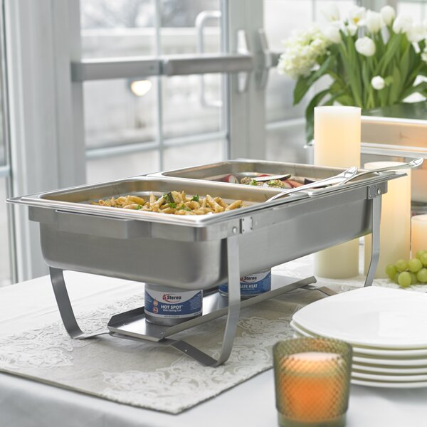 8 Piece Foldable Frame Buffet Chafer Set By Sterno.