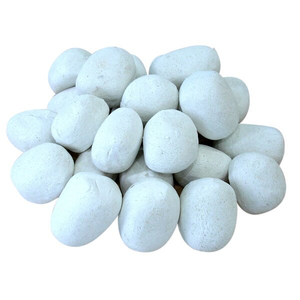 24 Piece Ceramic Fireplace Pebble Set By Ignis Products