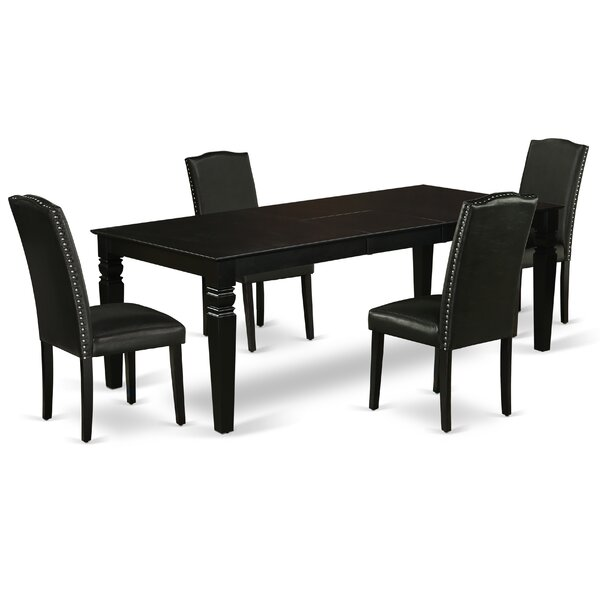 DeAnte 5 Piece Extendable Solid Wood Dining Set By Winston Porter