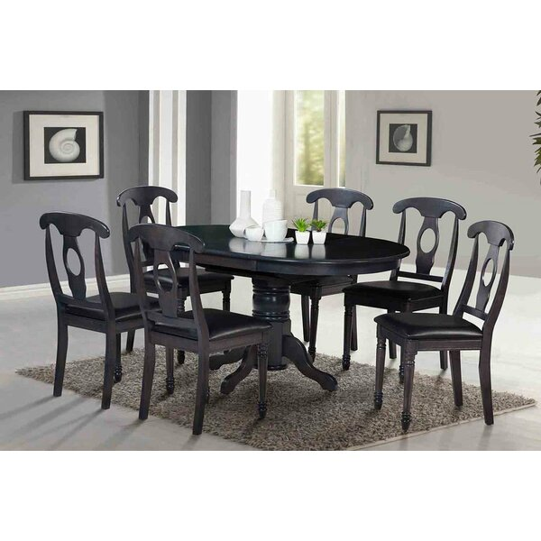 Two Sturdy Solid Wood Dining Table (Set of 2) by TTP Furnish