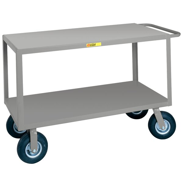 30 x 53.5 Flush Handle Steel Utility Cart by Little Giant USA
