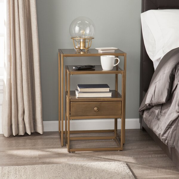 Total 2 Pieces Nesting Table by Everly Quinn