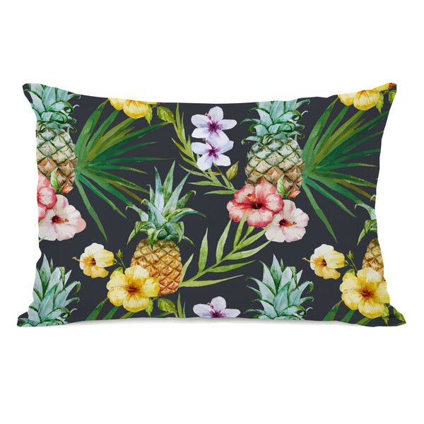 Hartnell Pineapples Outdoor Lumbar Pillow by Bay Isle Home