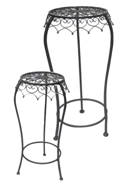 Metal 2 Piece Plant Stand Set by Mr. MJs