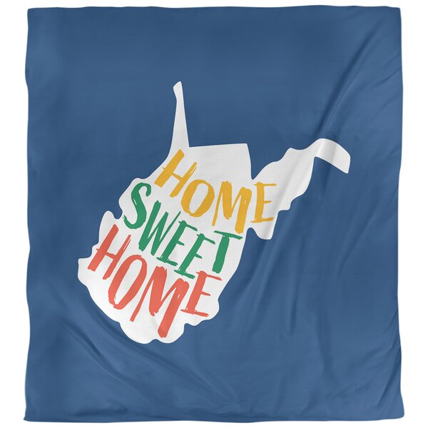 Home Sweet West Virginia Single Reversible Duvet Cover