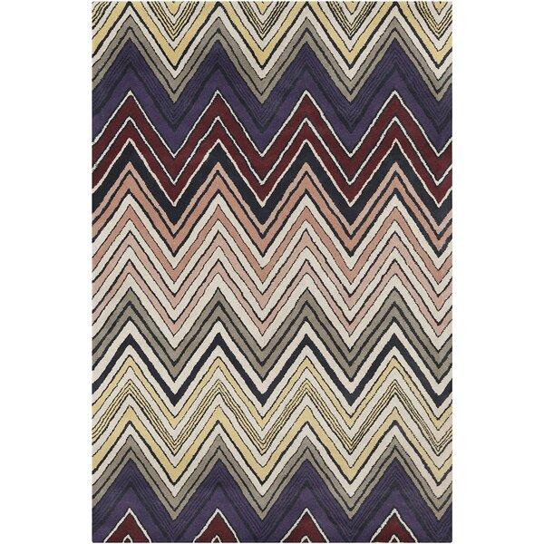 Millwood Hand Tufted Wool Purple/Light Coral Area Rug by Latitude Run