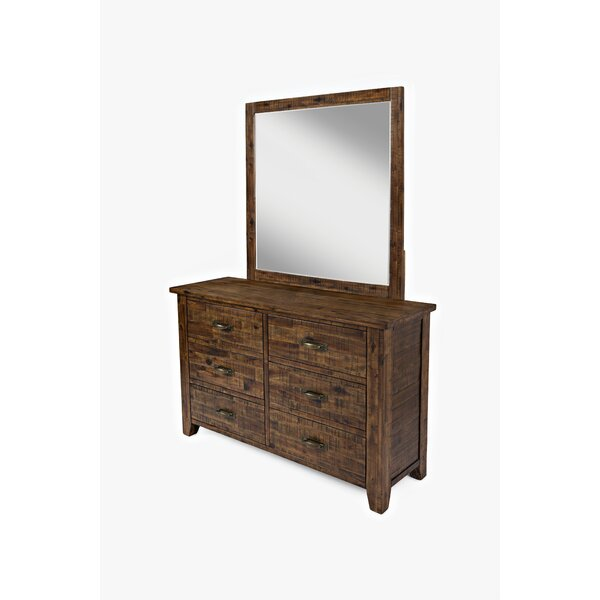 Athol 6 Drawer Double Dresser with Mirror by Three Posts