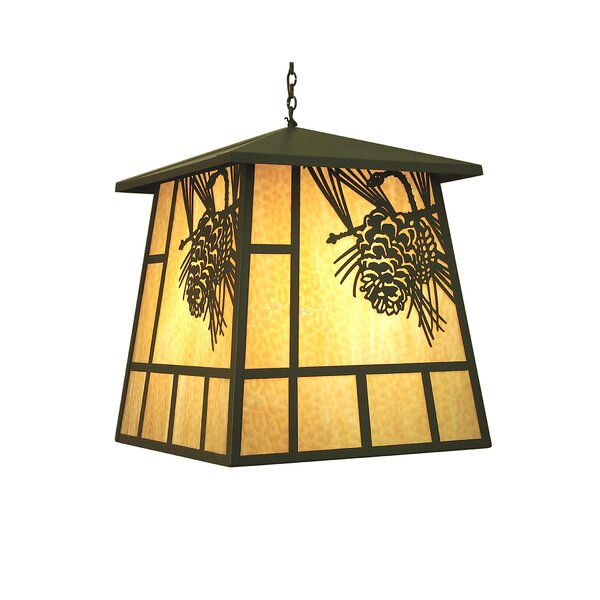Wyndham 4 - Light Lantern Rectangle Chandelier by Loon Peak Loon Peak