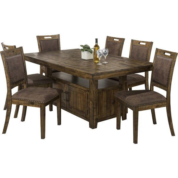 Acushnet 7 Piece Dining Set by Three Posts