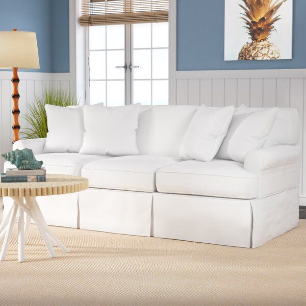Cool Trendy Rundle Slipcovered Sofa by Beachcrest Home by Beachcrest Home