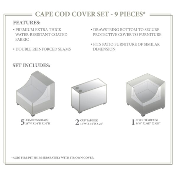 Cape Cod Winter 8 Piece Cover Set by TK Classics