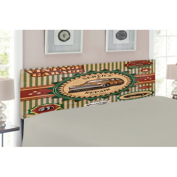 Vintage Retro Car Upholstered Panel Headboard by East Urban Home East Urban Home