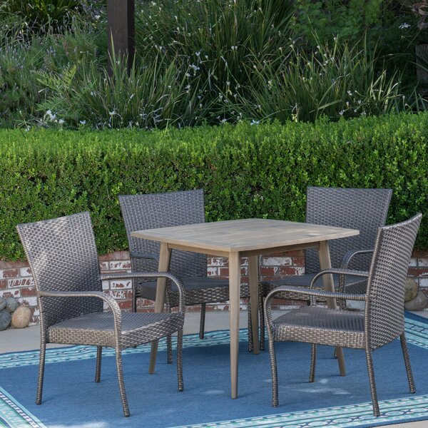 Herbst 5 Piece Dining Set by Wrought Studio