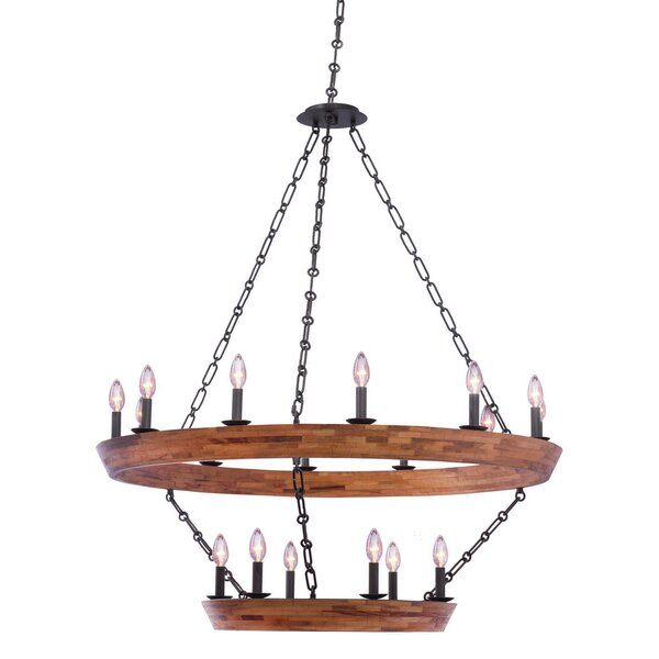 Griffing 18 - Light Candle Style Tiered Chandelier by Union Rustic Union Rustic