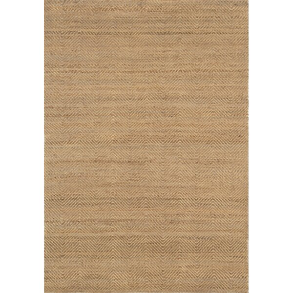 Rebekah Hand-Braided Jute Brown Area Rug by Highland Dunes