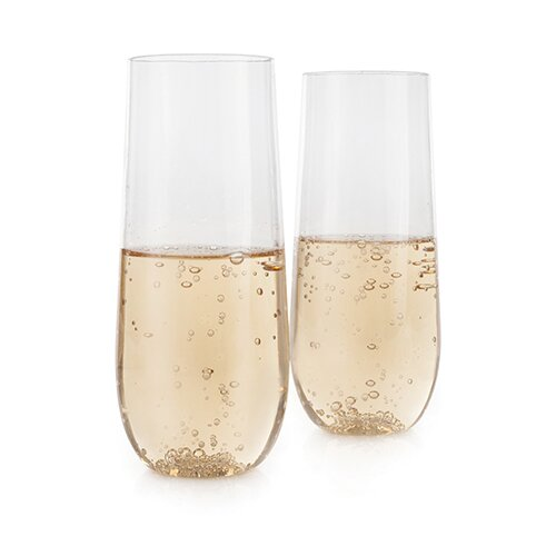 Flexi™ 8 oz. Stemless Glass Champagne Flute (Set of 2) by True Brands